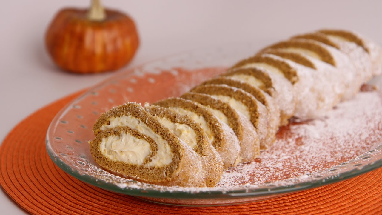 Pumpkin Cake Roll Recipe - Laura Vitale - Laura in the Kitchen Episode 508