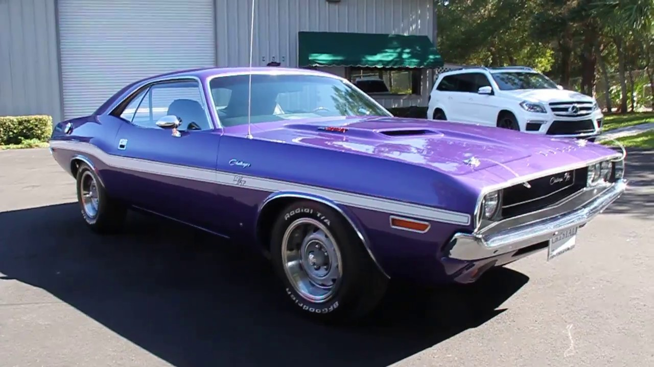 All Types challenger rt hp : 1970 DODGE CHALLENGER R/T COUPE 440 SIX PACK 390 HP PLUM CRAZY ...