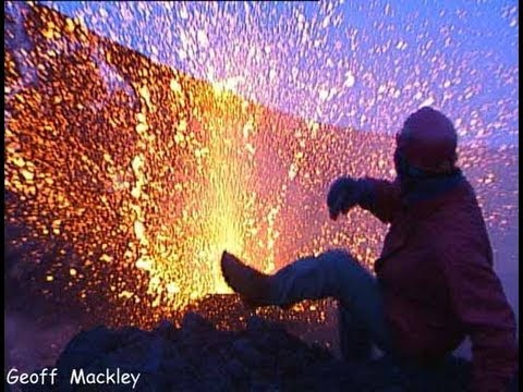 Geoff Mackley has close call on Mt Etna