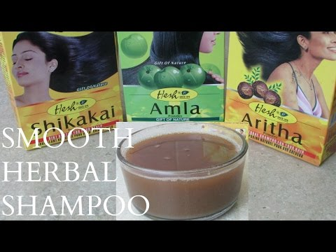 DIY Black Soap and Herbal Powder shampoo