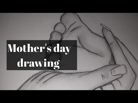 how-to-draw-baby-foot-in-mother-hand-image-with-pencil-  -easy-mother's-day-drawing-for-beginners
