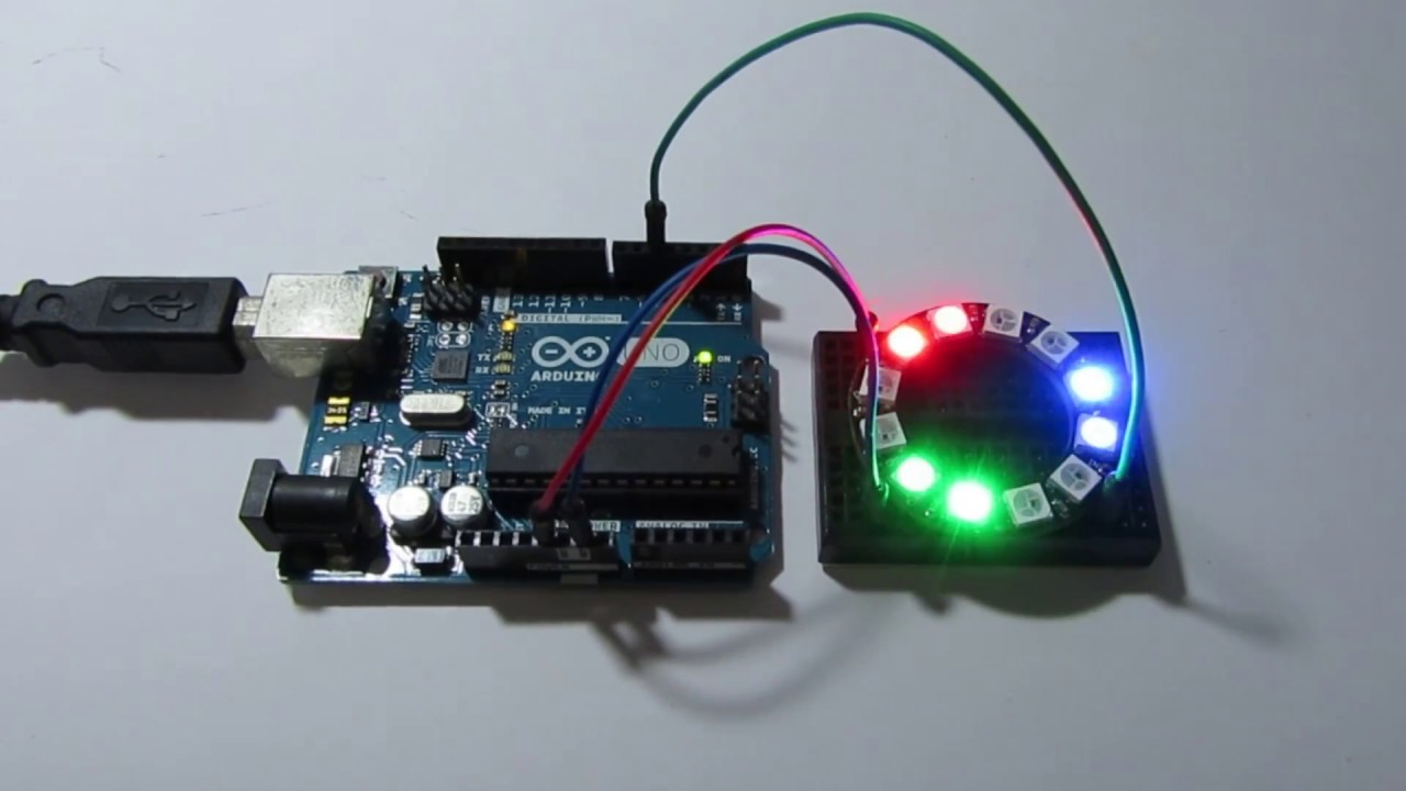 Arduino uno adafruit neopixel ring youtube