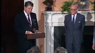 President Reagan Presents the Presidential Medal of Freedom to Lord Carrington on May 10, 1988