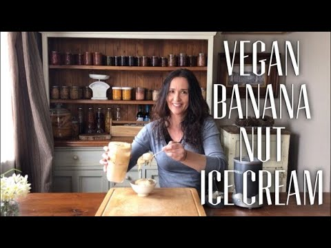 Easy Vegan Banana Nut Ice Cream -  Summer Dessert Collaboration #SummerDessertCollaboration