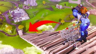 NEW SHOPPING CART VS MEGA RAMP! - (Fortnite Battle Royale)
