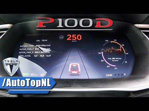 Tesla Model S P100D LUDICROUS ACCELERATION & TOP SPEED 0-250 kmh by AutoTopNL