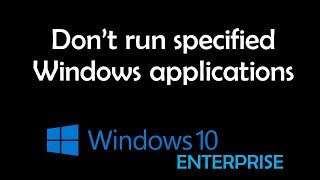 Don't run specified Windows applications