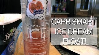 Simple & Yummy Ice Cream Float Using Sparkling Ice Flavored Water!