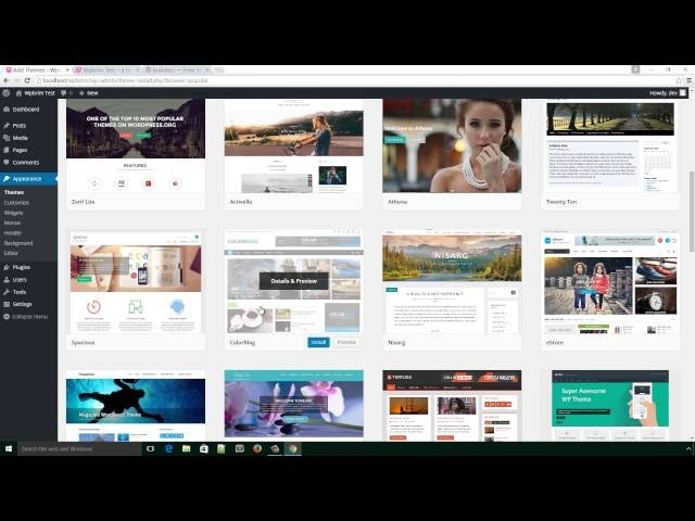 wordpress tutorial for beginners step by step 2016 - Install theme on WordPress part - 06 .