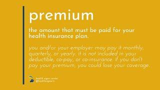Glossary: Premium