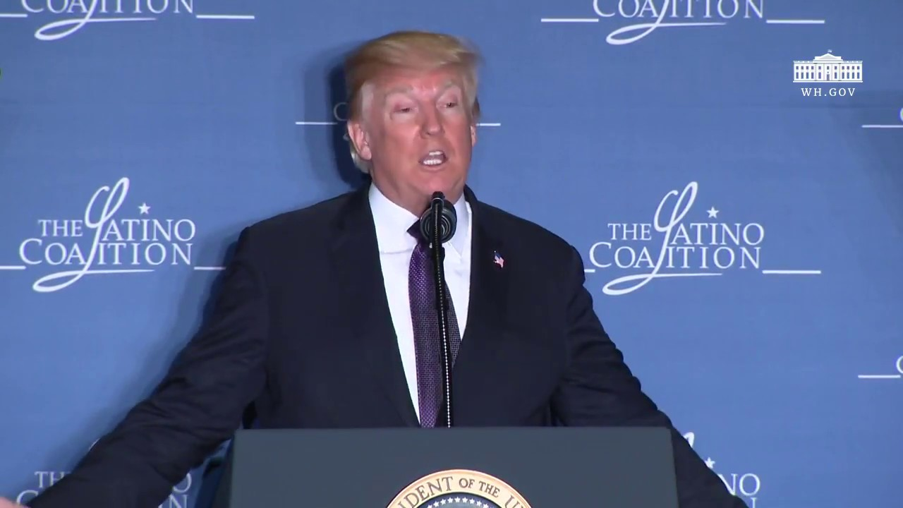 Hasil gambar untuk President Trump Delivers Remarks at the Latino Coalition Legislative Summit