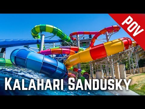 Waterslides at Kalahari Resort Sandusky, Ohio (2018 Edition)