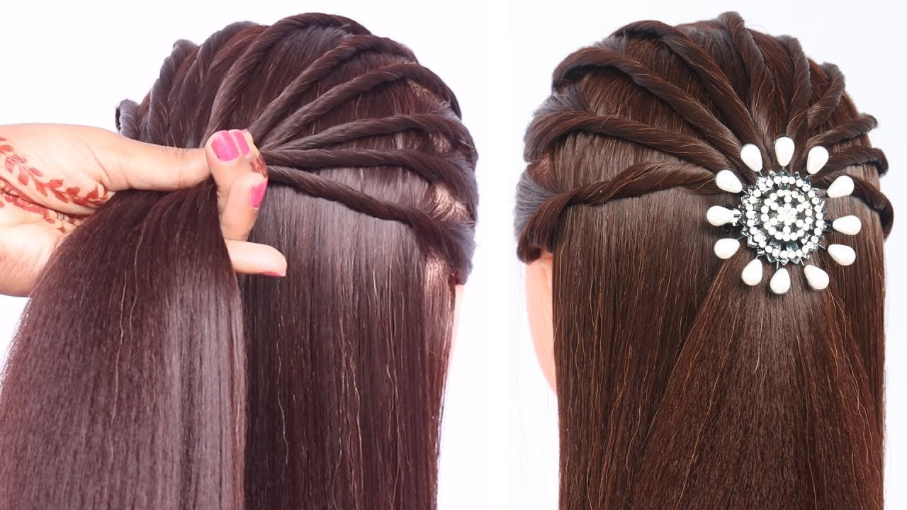 new hairstyle for girls  cute hairstyle  easy hairstyle  hairstyle  for open hair  hairstyle