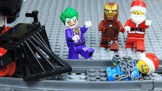Lego Train Superhero Save a Child