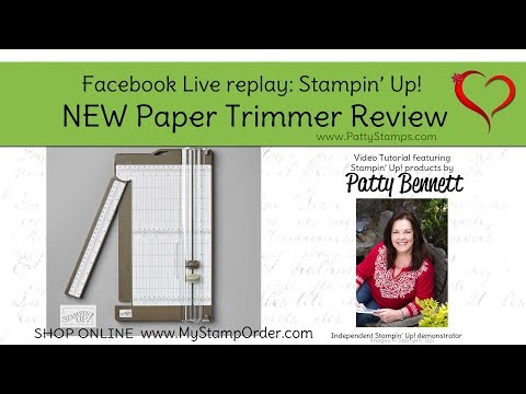 New Stampin Up Paper Trimmer Product Review