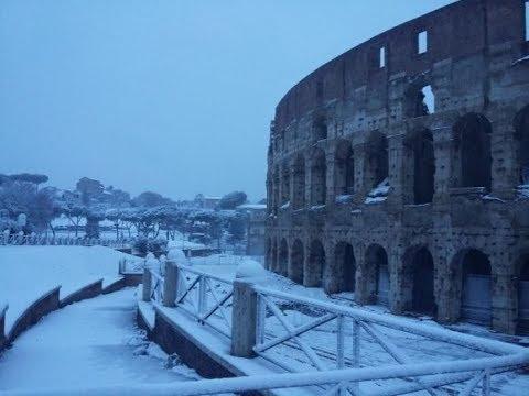 26 febbraio 2018: neve a Roma, tour della Capitale sotto la bufera