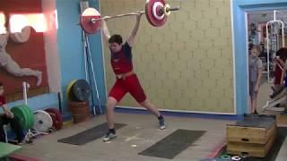 Мезенцев Алексей, вк 85, 14 лет Толчок 93 кг
