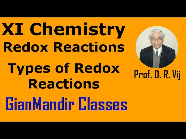 XI Chemistry - Redox Reactions - Types of Redox Reactions by Ruchi Mam