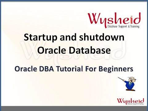 Oracle Database Shutdown and Start up |  Oracle startup and shutdown | Oracle DBA Videos