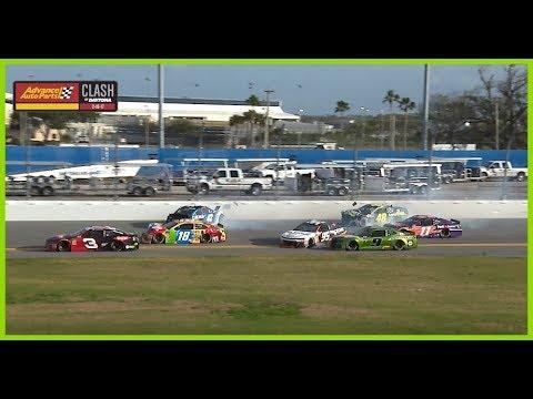 Keselowski wins Clash as others wreck behind him