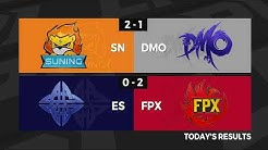 SN vs.DMO | ES vs. FPX - Week 4 Day 6 | LPL Summer Split (2020)