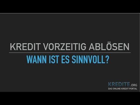 Kredit vorzeitig ablösen - einfach erklärt!