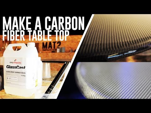 Carbon Fiber Table Top - Glasscast epoxy pour