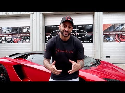 My Lamborghini Aventador S now has WOW Factor! FULL Chrome Red Wrap Video