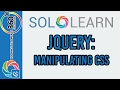 Manipulating CSS: Learn jQuery with Solo