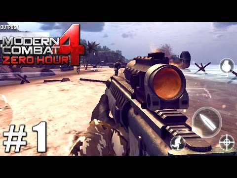 Modern Combat 4: Zero Hour - Gameplay Nvidia Shield Tablet Android HD Mission 1