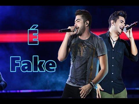 Henrique e Juliano - É Fake (Karaoke Oficial) Lyrics 2015