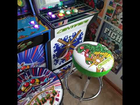 New arcade1up stools for Gameroom from 1HealthPlays Onstot