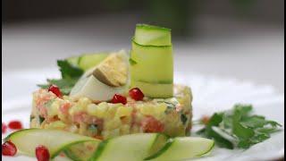 """Самый Новогодний салат """"Оливье"""" с Сёмгой и домашним майонезом"""