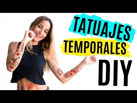 Diy Tatuajes Temporales En Casa 4 Maneras Youtube