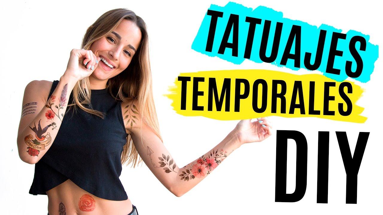 Diy Tatuajes Temporales En Casa 4 Maneras Youtube