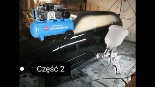 """LAKIEROWANIE SAMOCHODU W GARAŻU !!! #2 """"CZARNA PERŁA"""" - BMW E36 GoPro POV Devilbiss FLG5"""