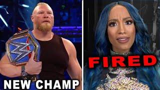 Sasha Banks Fired by WWE Brock Lesnar Wins Universal Title Wrestling News Rumors August 2021