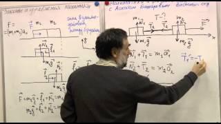 Ускорения и силы в системе тел, связанных нитями. 2