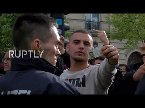 Germany: Nationalists mocked by passport waving counter-protesters Berlin march