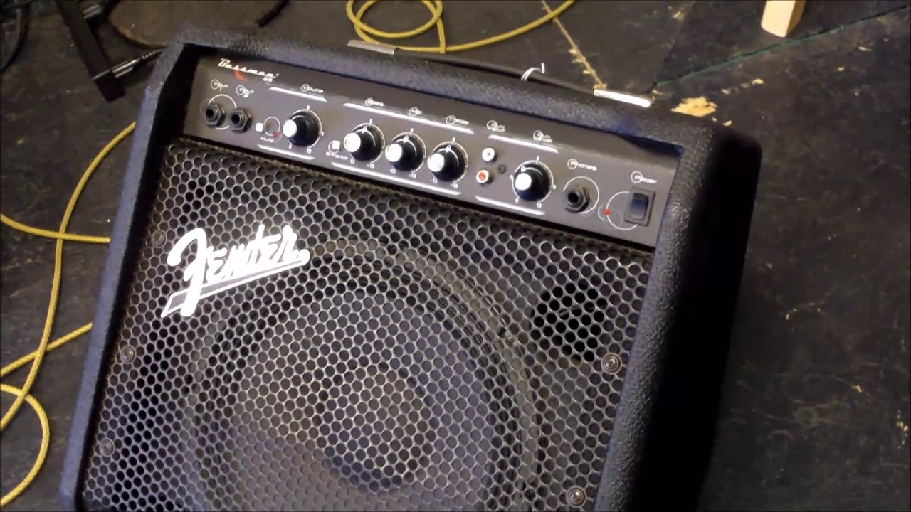 a look at the fender bassman 25 watt bass amplifier youtube. Black Bedroom Furniture Sets. Home Design Ideas
