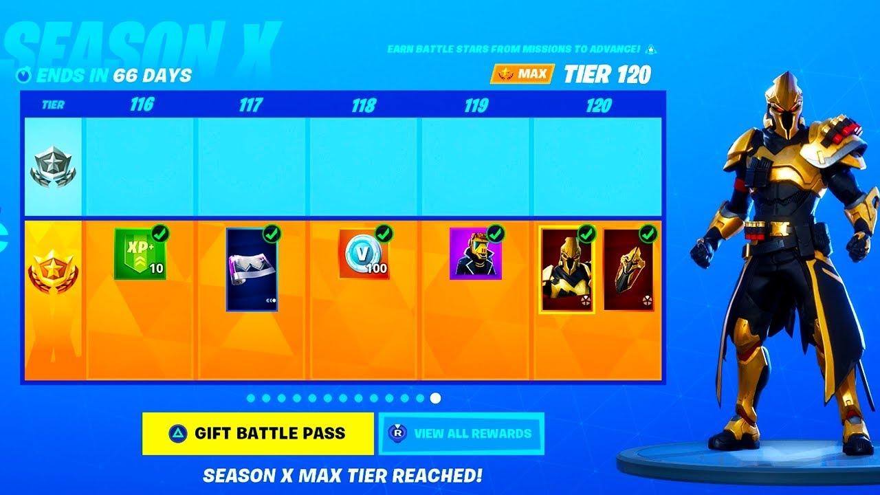 New Season X Battle Pass Tier 100 In Fortnite 100 Unlocked