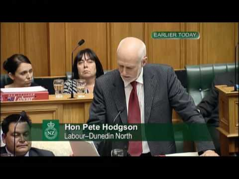 Hon Pete Hodgson: Why did the Minister tamper with his own Wikipedia entry earlier this week ?