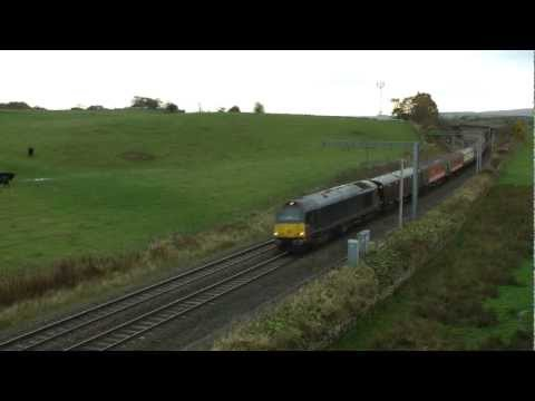 67006 on 1Z23 Southampton to Glasgow Central Barrhead Travel Cruise Saver (Wheelflats!)