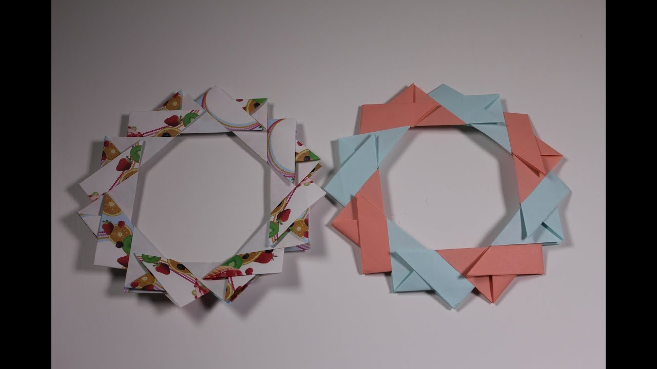 how to origami christma christmas wreath youtube