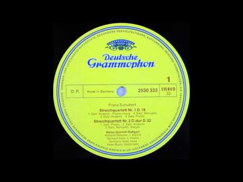 Schubert, String Quartet No 1 D 18 and No 2 1,2,3mov , Melos Quartet