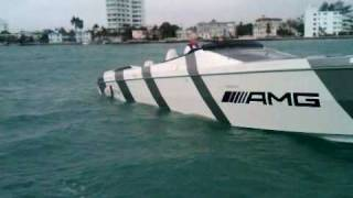 AMG / Cigarette Race Boat - At Idle from Press Boat