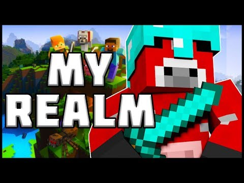 My Minecraft Realm!! (Lots Of Pranks Coming Soon!)