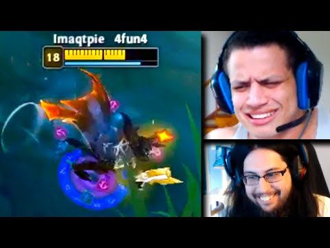 Shiphtur Becomes Imaqtpie | Tyler1 Reacts To the Worst Throw of 2018 | LoL Funny Moments