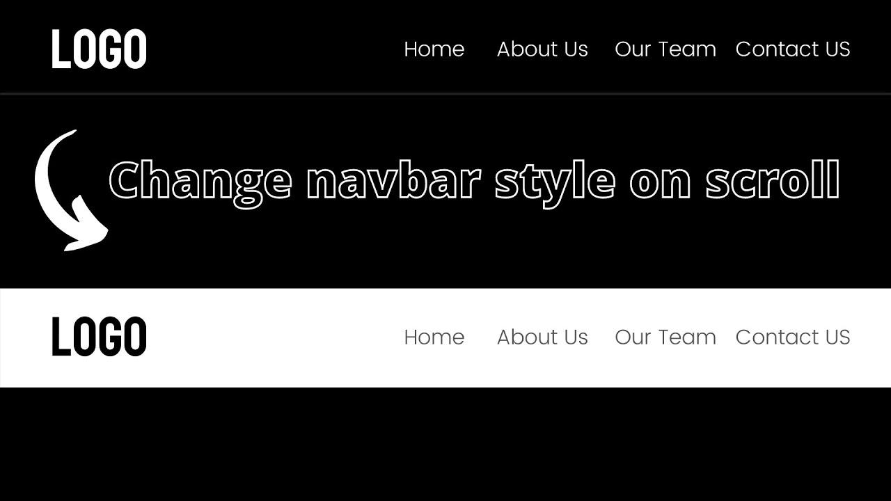 Sticky Navbar on Scroll using HTML CSS and JavaScript