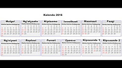 The Kalenjiin Calendar
